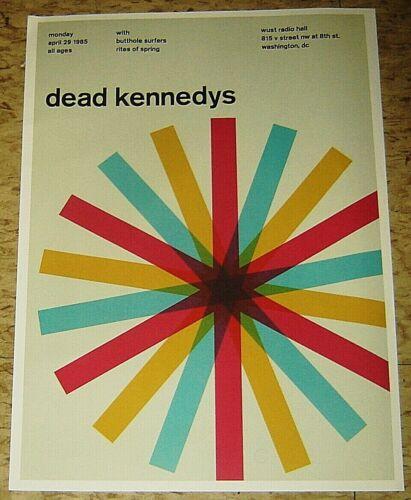 DEAD KENNEDYS ROCK CONCERT POSTER SWISS PUNK GRAPHIC POP ART WUST WASHINGTON DC