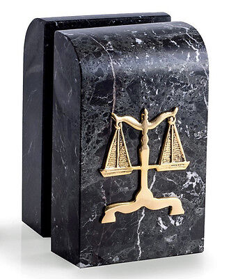 BOOKENDS - SCALES OF JUSTICE MARBLE BOOKENDS - LEGAL - LAWYER