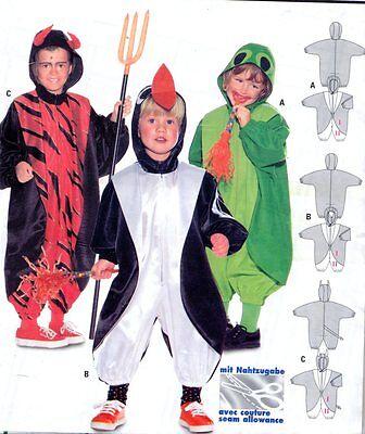 Burda 3048 Costume Pattern Child: 18 months-6  FROG, PENGUIN & DEVIL Uncut  - Penguin Costumes Kids