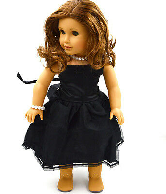 "Doll Clothes fits 18"" American Girl Handmade Black Party Dress  on Rummage"