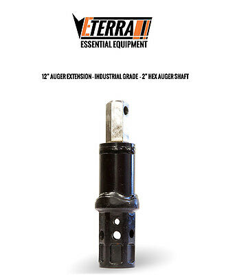 12 Auger Extension - 2 Hex - Eterra Auger Extension For Heavy Equipment