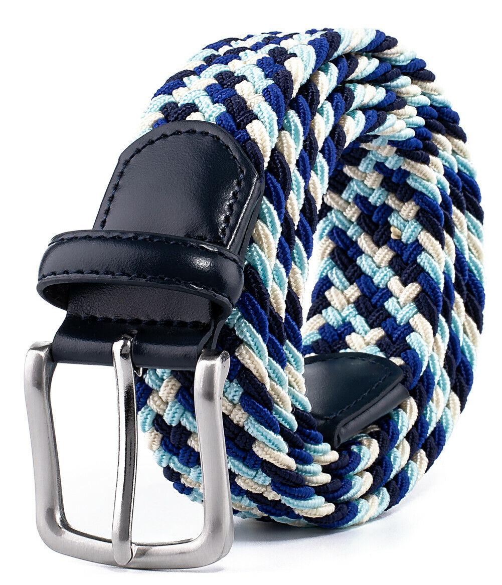 Belt for Men,Woven Stretch Braided Belt for Casual Pants Jean Mens Belts Belts