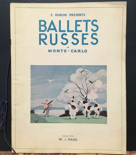 BALLET RUSSE~1934 VINTAGE PROGRAM~JOAN MIRO~SURREALISM~RAOUL DUFY~PHOTOGRAPHS