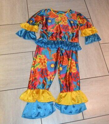 Hippie ,Clown Kostüm, Mädchen, Gr.128/ Gr.140,, 2 tlg