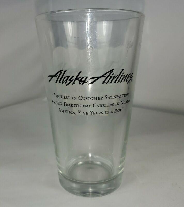 Alaska Airlines Pint Beer Glass J.D. Power Award