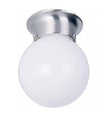 6 Light Ceiling Light - 6 In. Flush Mount Ceiling Light Fixture Brushed Nickel V7309-33