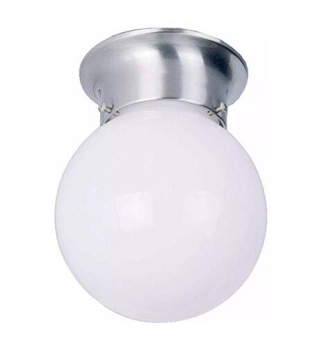 6 In. Flush Mount Ceiling Light Fixture Brushed Nickel V7309
