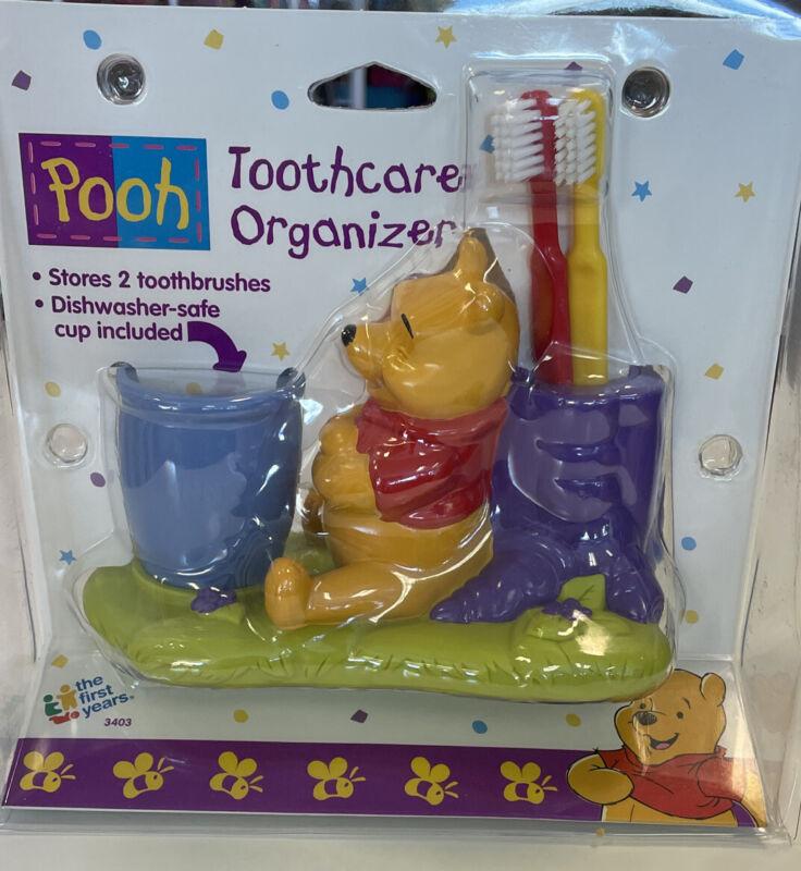 NIP Vintage Pooh Toothbrush Holder~ First Years 1998 Toothcare Organizer