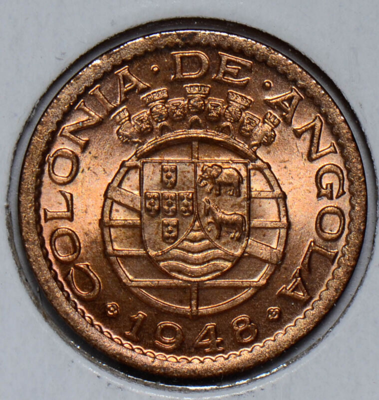 Angola 1948  20 Centavos  red UNC A0063 combine shipping
