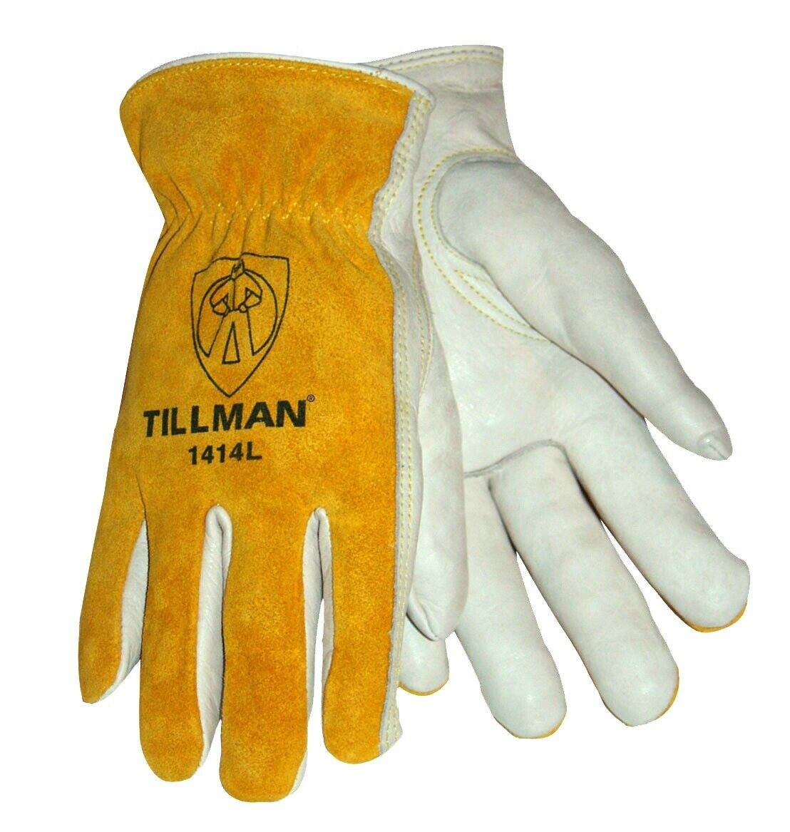 Tillman 1414 Drivers Work Gloves Top Grain Pearl CowhideSplit Leather Back XS-XL Business & Industrial