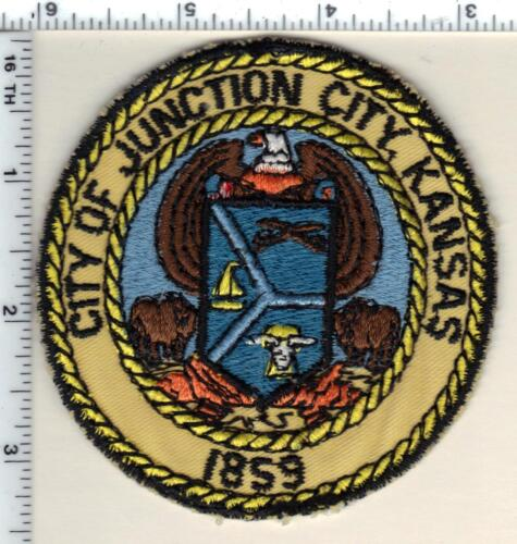 City of Junction City Police (Kansas) uniform take-off patch from 1990