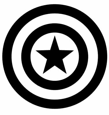 Captain America Vinyl Decal Sticker JDM Window Laptop marvel Fast Free Shipping