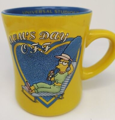 Mug The Simpson's Moms Day Off Universal Studios Coffee Tea  Marge Embossed