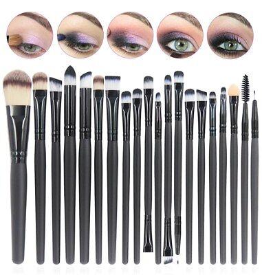 20 Pennelli Professionali Make-up x Ombretto Fard Correttore Labbra Sopracciglia