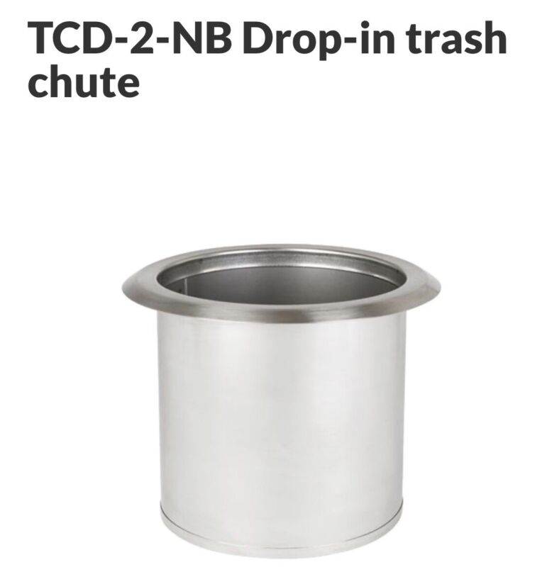 Dispense-Rite Stainless Steel Built-In Trash Chute Model TCD-2-NB - New In Box