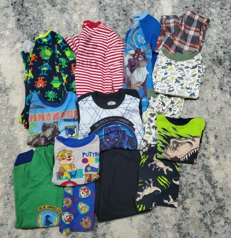 Toddler Boys Clothes Size 3t-4t-5 Lot Winter Oshkosh Pajamas Disney Sleepers kid