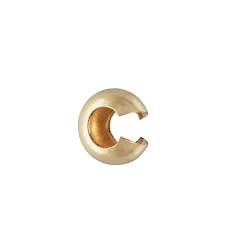14k Gold Filled 4mm Crimp Cover Bead Jewelry Findings  10pcs  #6402-4