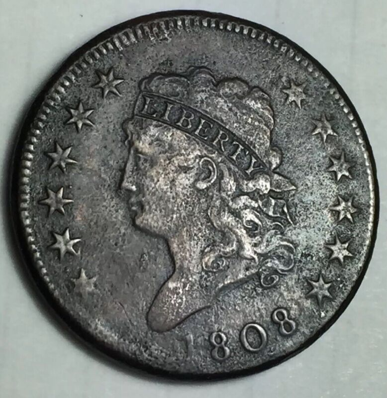 1808 Classic Head Large Cent S-277 Variety 12 Stars