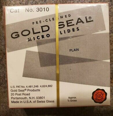 2 Rite-on Gold Seal Blank Microscope Micro Slides Pre-cleaned Coated Plain Lint