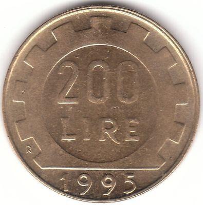 Italy 200 Lire 1995 Aluminum-bronze Coin