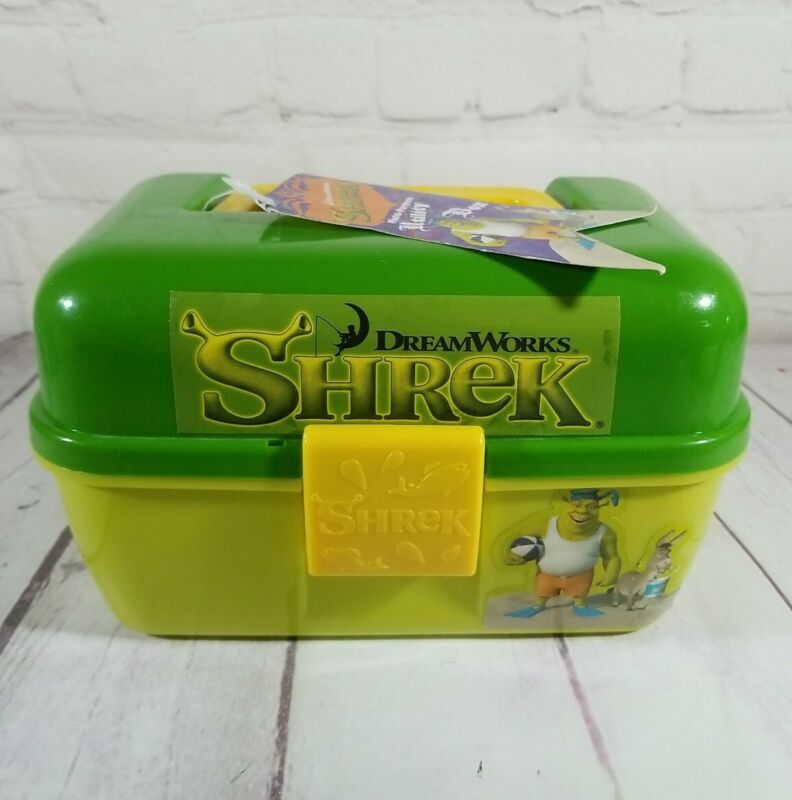 Shrek 2007 Green Tool Tackle Change Utility Plastic Box With Latch (NO TRAY)