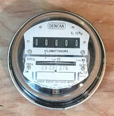 Antiquevintage Duncan Electric Single Stator Watthour Meter 1