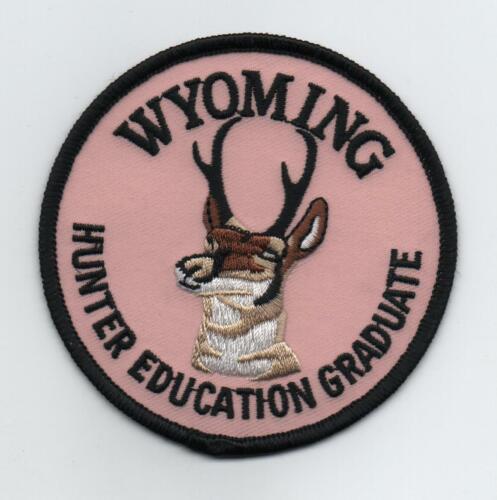 Wyoming Hunter Education Graduate Patch, Mint