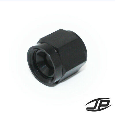 Black -6 AN Female AN Flare Fitting Cap 6 AN Block Off Aluminum HIGH QUALITY!