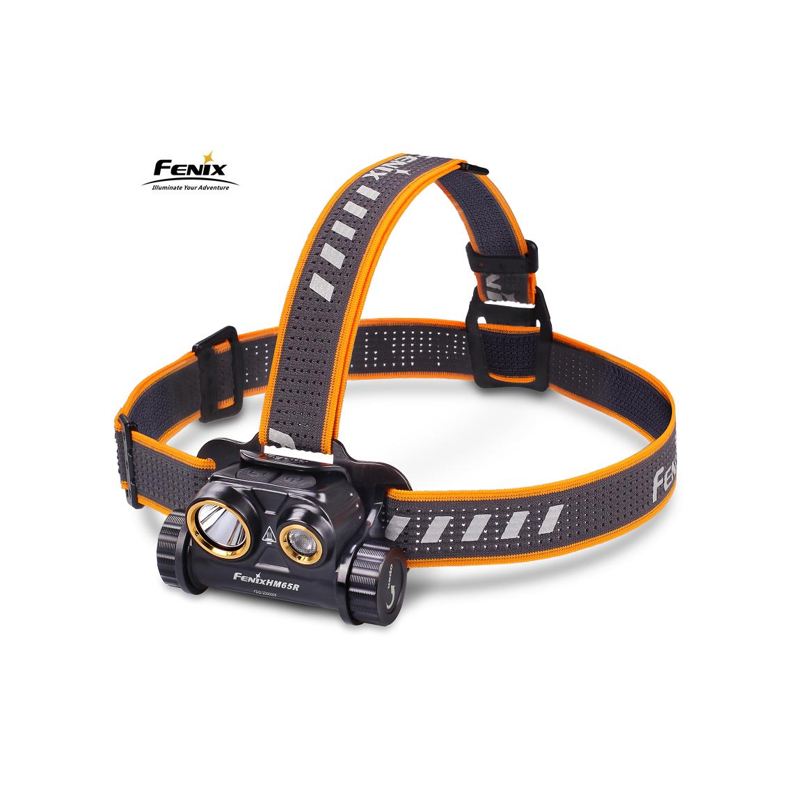 Fenix HM65R Stirnlampe 1000 Lumen aufladbar inkl. 3500mAh Akku u. USB-Ladekabel