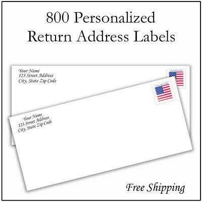 800 Personalized Return Address Labels Printed Custom 12 Inch X 1 34 Inch