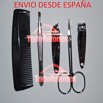 set uñas para manicura cortar perfilar arreglar tijeras peine cortauñas media