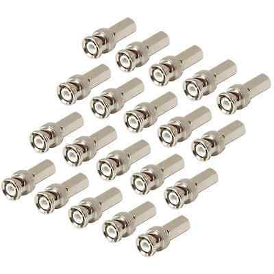 NEW 20 pack BNC male twist on connectors plugs for RG59 coax coaxial cable