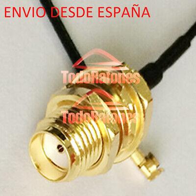 50 cm pigtail hembra minipci RP-SMA mini pci para antena router UFL cable largo, usado segunda mano  Almendral