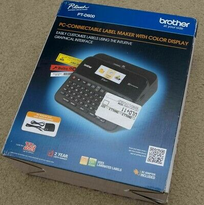 Brother P-touch Label Maker Pc-connectable Labeler Ptd600 Color Display New
