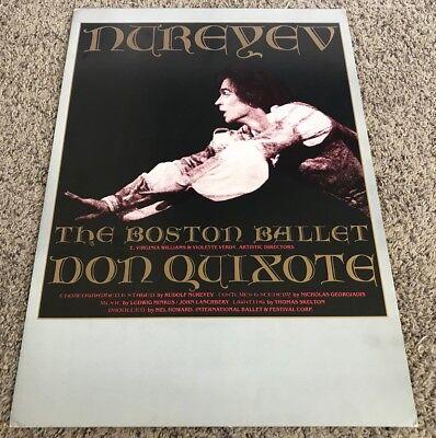 Original Rudolf Nureyev Boston Ballet Don Quixote Window Card Poster, 15x21