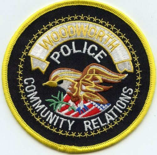 WOODWORTH LOUISIANA Community Relations POLICE PATCH