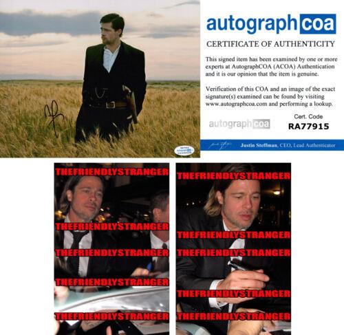 BRAD PITT signed Autographed ASSASSINATION OF JESSE JAMES 8X10 PHOTO Proof ACOA