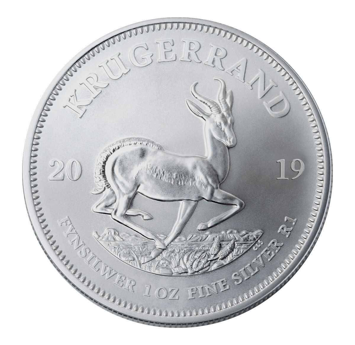 Купить 2019 South Africa 1 oz Silver Krugerrand 1 Rand Coin GEM BU SKU56598