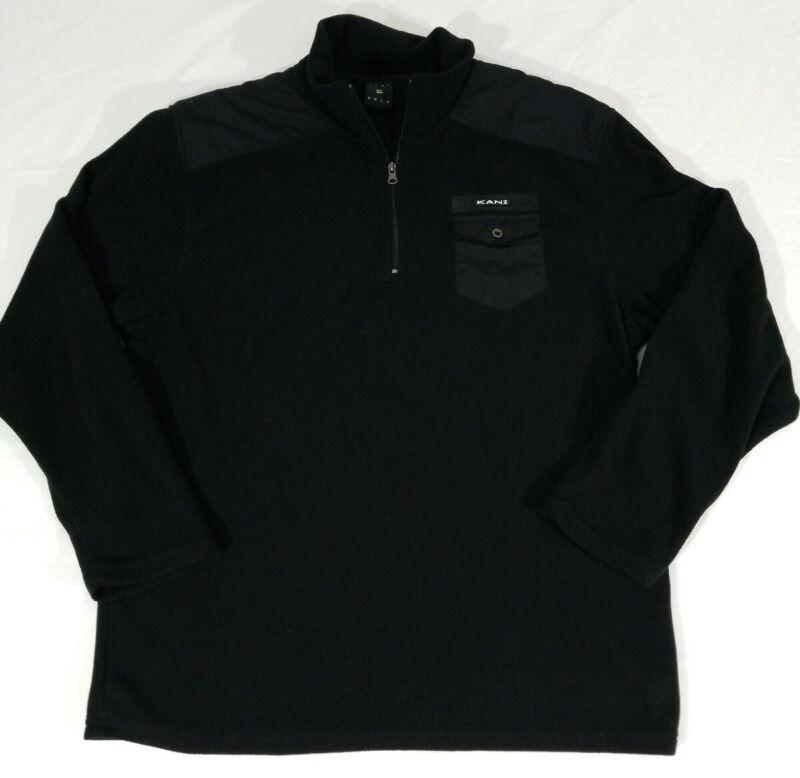 Karl Kani Gold Mens Black Fleece Pullover Sweater Sweatshirt Urban 90