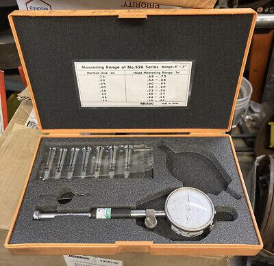 Mitutoyo 526-123 Dial Bore Gage Split Ball .4-.7 Diatest Machinist Inspection