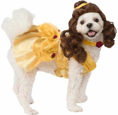 Rubies Disney Beauty and the Beast Belle Dress Pet Dog Halloween Costume 200171 - Beauty And The Beast Halloween Costume Dog
