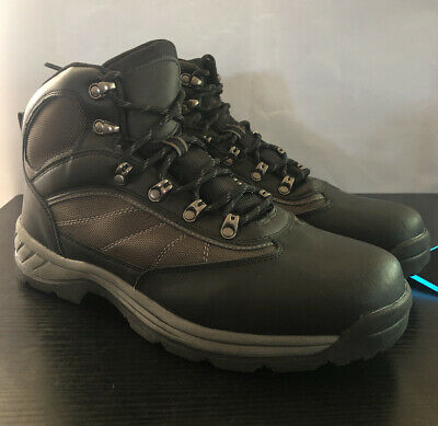 Mens Black/Gray Hiking Water Resistant Boots Goodfellow & Co Size 12 Grey Hiking Boots