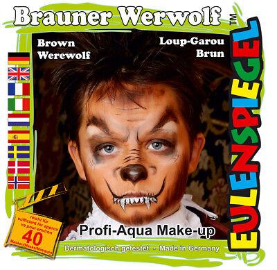 et Werewolf, Schmink-Set mit Schmink-Anleitung und 1 Pinsel (Kinderschminken Anleitung Halloween)
