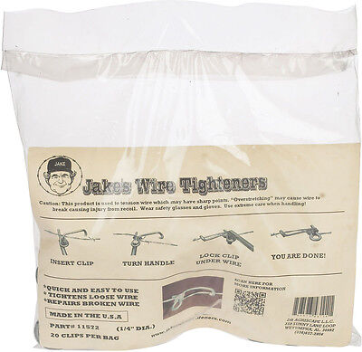 2 Pack Jakes Wire Tighteners 2 Bags Of 20 14 Clips Fix Fence Fast Easy Usa