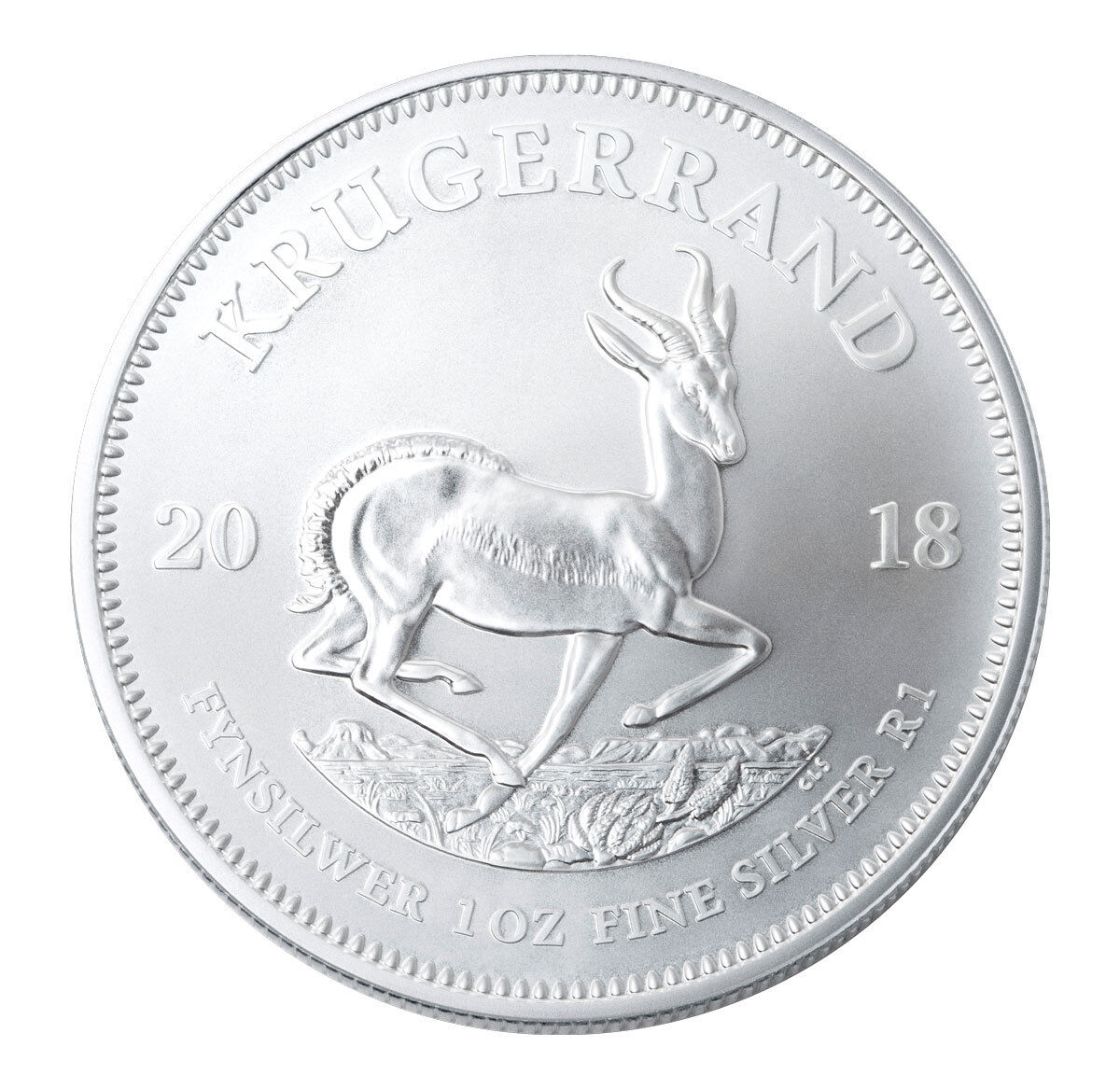 Купить 2018 South Africa 1 oz Silver Krugerrand R1 Coin GEM BU SKU54609