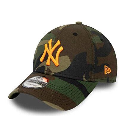 NEW ERA NEW YORK YANKEES BASEBALL CAP.9FORTY CAMO NEON LOGO STRAPBACK HAT S20 2