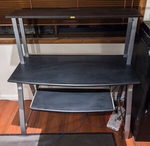 2 Tier Computer Desk, Black Pagewood Botany Bay Area Preview