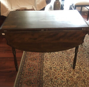 Vintage Solid Wood Drop Leaf Table