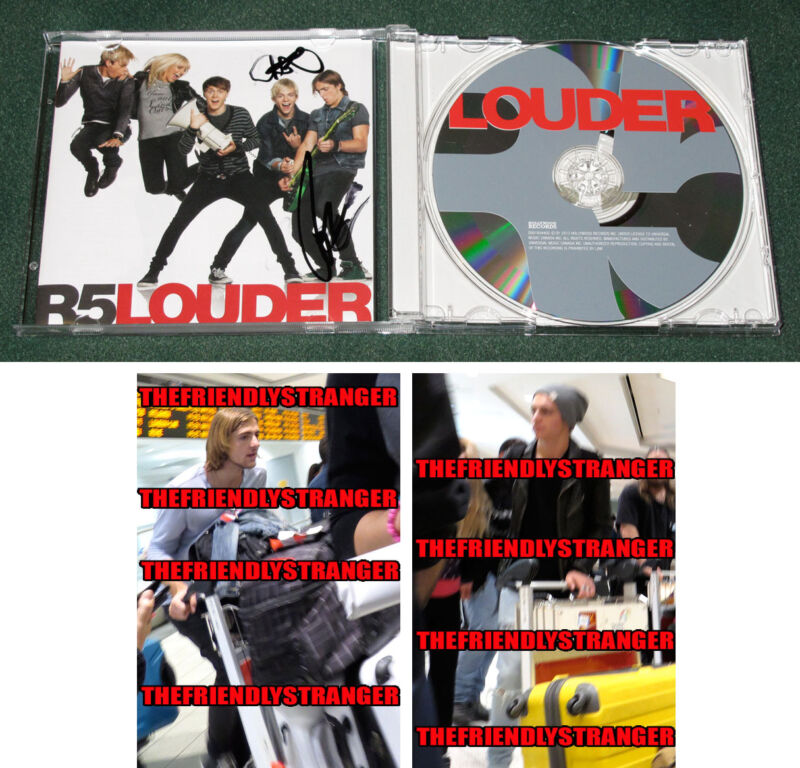 "ROSS LYNCH & ROCKY LYNCH signed Autographed R5 ""LOUDER"" CD - PROOF - COA"