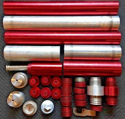 Lot Large Rescue 32 Hydraulic Pneumatic Cylinders More Billet 15000psi Ram
